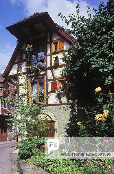 Fachwerkhaus  Der Honigzipfel  Künzelsau  Hohenlohe  Baden-Württemberg  Deutschland  Europa