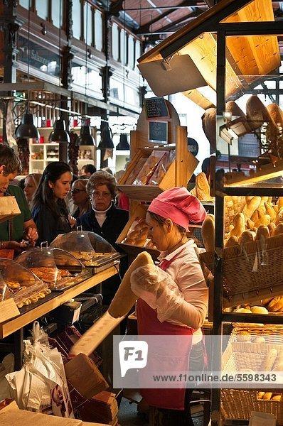 Blumenmarkt  Madrid  Hauptstadt  Stadtplatz  Bäcker  Bürgermeister  Spanien