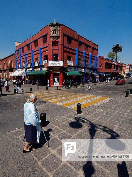 Frau Großstadt Mexiko alt