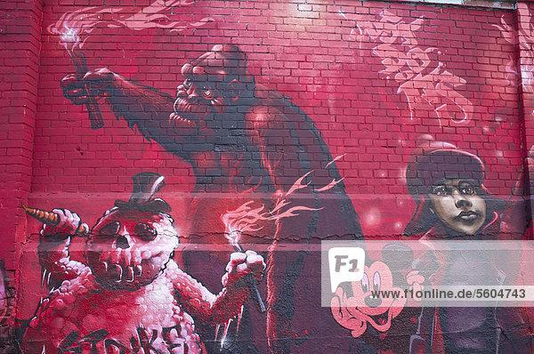 Graffitiwand  Tumblingerstraße  Bezirk Ludwigsvorstadt-Isarvorstadt  München  Bayern  Deutschland  Europa