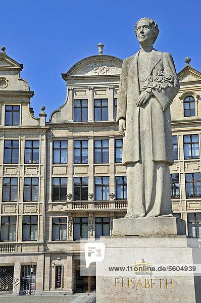 Denkmal Königin Elisabeth  Place de l'Albertine  Brüssel  Belgien  Europa  ÖffentlicherGrund