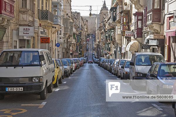 Street in Valletta  Malta  Europe