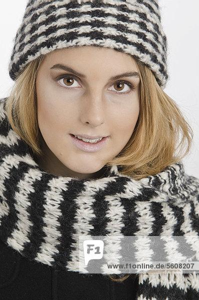 Woman wearing winter clothing  portrait