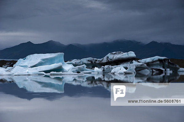 Eisberge  Gletscherlagune Brei_·rlÛn  Breidarlon  Vatnajökull Gletscher  Austurland  Ost-Island  Island  Europa