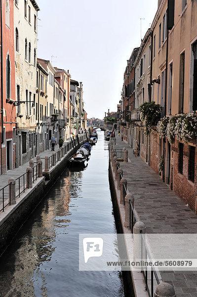 Canal Fondamenta Soranza delle Fornaci  Venedig  Venetien  Italien  Europa  Europa