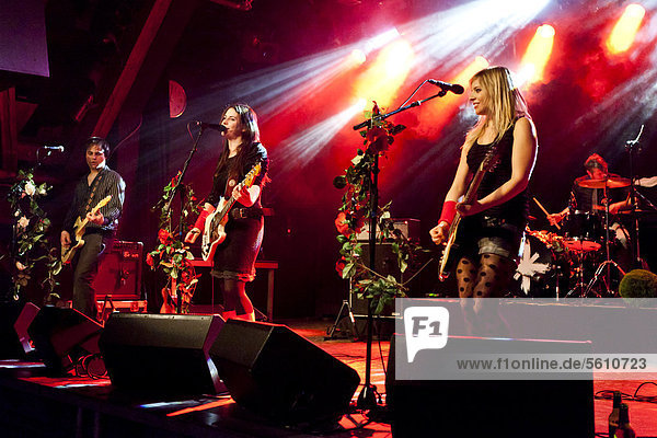 Swiss band Delilah performing live in the Schueuer concert hall  Lucerne  Switzerland  Europe
