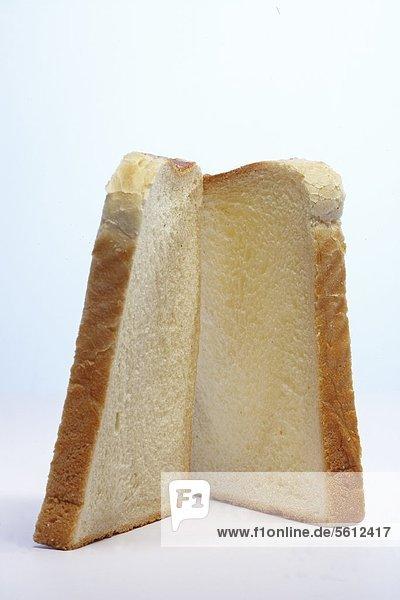Zwei Scheiben Toast Zwei Scheiben Toast
