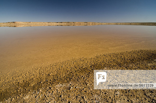Salztonebene  Kalahari-Wüste  Nordkap  Südafrika  Afrika