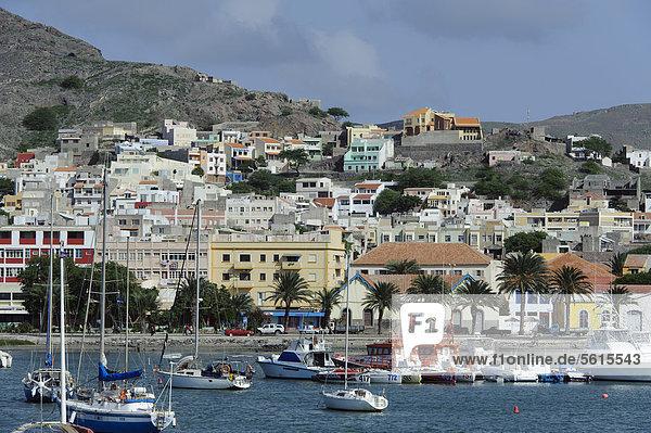 Harbour bay of Mindelo  Sao Vicente  Cape Verde  Africa