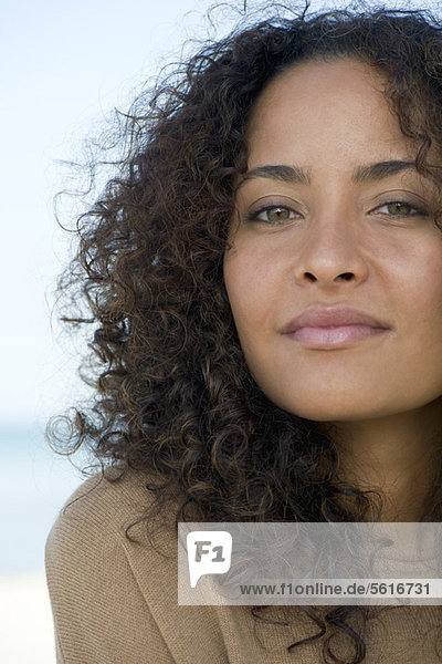 Woman looking confidently at camera  portrait