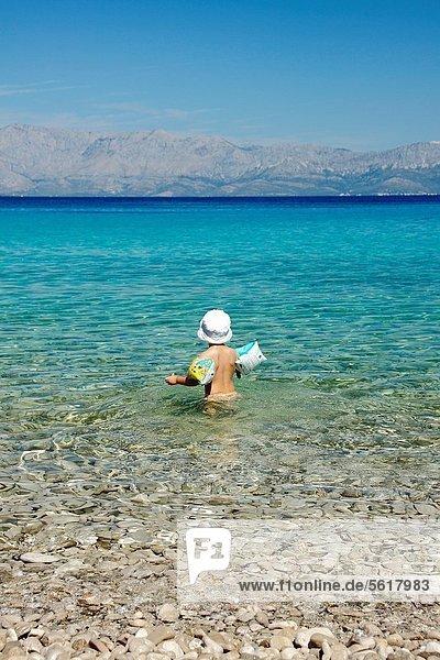 nahe  Strand  Meer  Adriatisches Meer  Adria  Mädchen  Kroatien