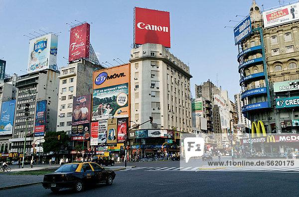 Buenos Aires Hauptstadt Argentinien Obelisk Südamerika