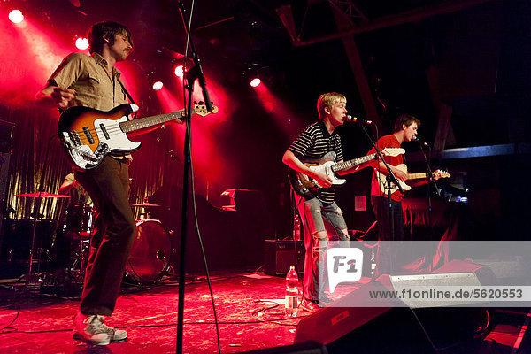 German band Chuckamuck performing live in the Schueuer concert hall  Lucerne  Switzerland  Europe