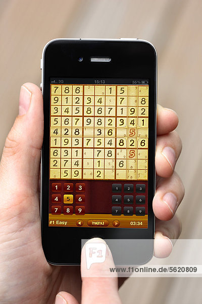Iphone  Smartphone  App auf dem Display  Sudoku