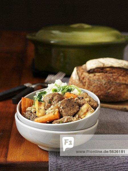 Irish Guinness Stew mit Lamm und Möhren