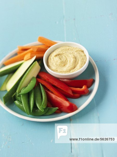 Crudite mit Hummus