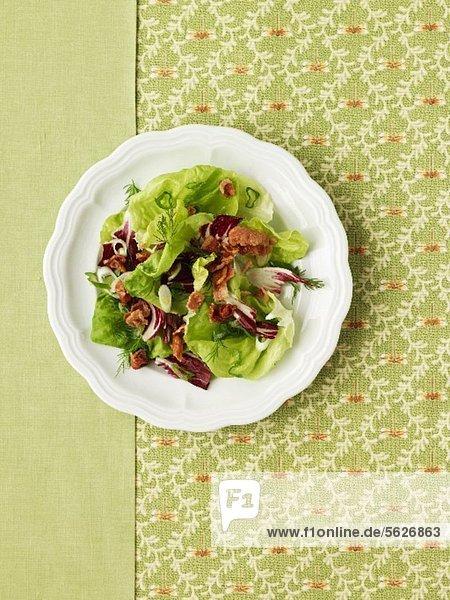 Blattsalat mit Bacon