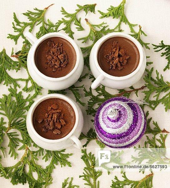 Schokoladenmousse (weihnachtlich)
