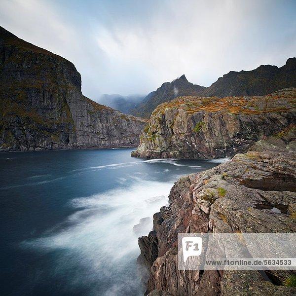 Berg  Ozean  Steilküste  Meer  Gezeiten  Norwegen