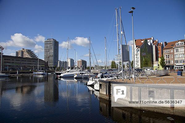 Hafen von Ostende  Westflandern  Belgien  Europa