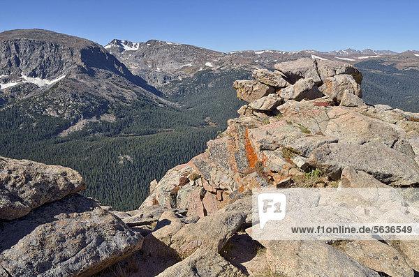 Blick auf Terra Tomah Mountain und Mount Ida von der Trail Ridge Road  Rocky Mountain National Park  Colorado  USA