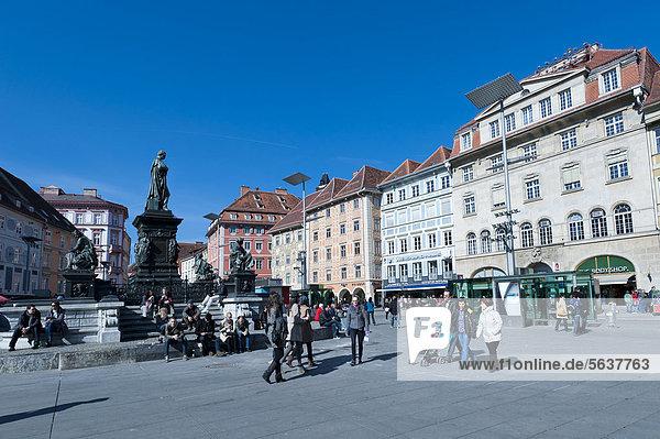 Hauptplatz  Graz  Steiermark  Österreich  Europa