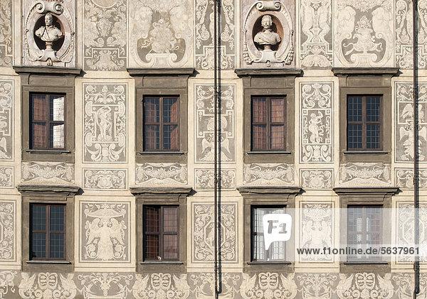 Europa Fassade Hausfassade Toskana Palast Schloß Schlösser Italien Pisa