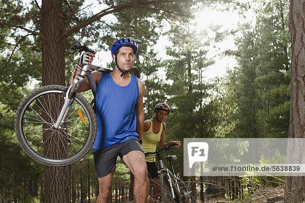 Berg  tragen  Wald  Fahrrad  Rad