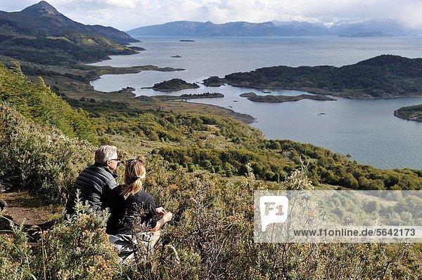 Wulaia Bay  Navarino island  Tierra del Fuego  Patagonia  Chile  South America