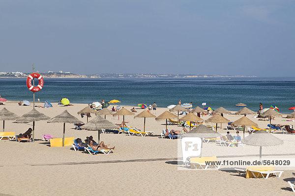 Strand Meia Praia  Atlantikküste  Algarve  Portugal  Europa Strand Meia Praia, Atlantikküste, Algarve, Portugal, Europa