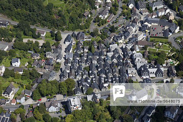 Europa  Deutschland  Nordrhein-Westfalen  Freudenberg  Ansicht Fachwerkhaus