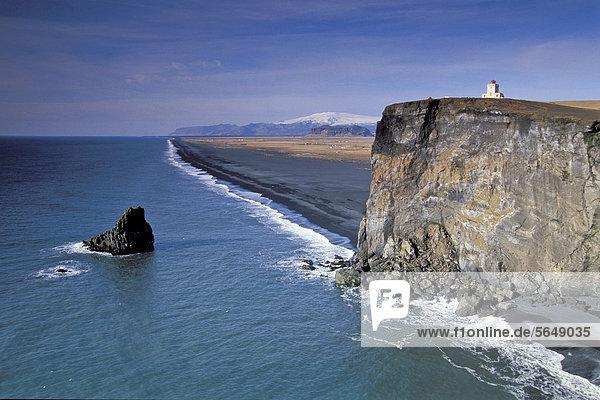 Europa Küste Leuchtturm Island
