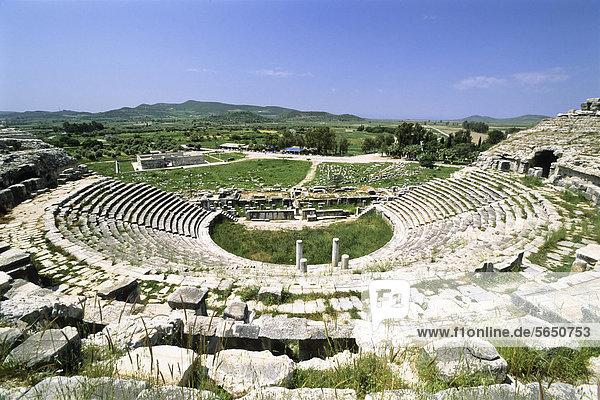 Römisches Theater  antike Stadt Milet  Türkei  Kleinasien