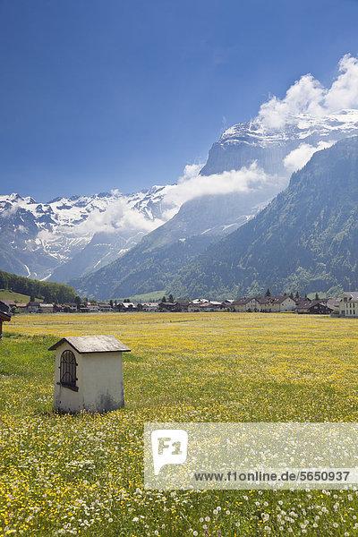 Schweiz  Blick auf Engelberg mit Titlisgletscher