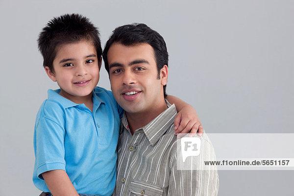 Porträt von Vater und Sohn