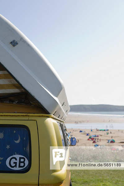 Wohnmobil an der Küste