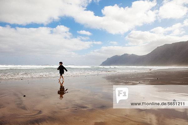 Strand Junge - Person rennen