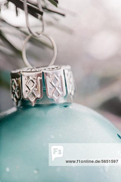 Close up of Weihnachtskugel