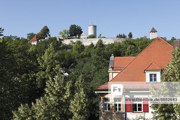 Deutschland  Bayern  Burglengenfeld  Blick auf Schloss Lengenfeld