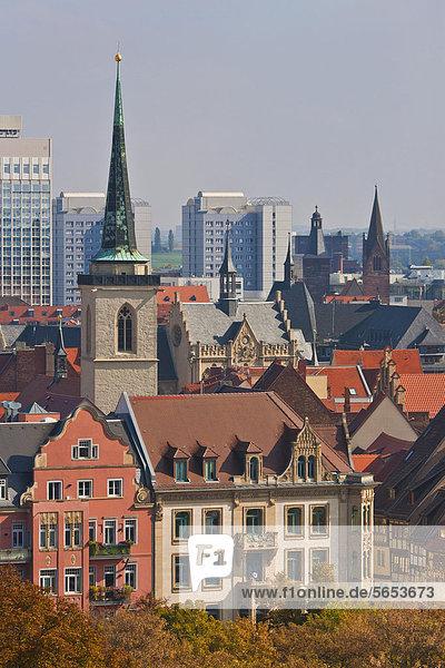 Deutschland  Thüringen  Erfurt  Stadtansicht