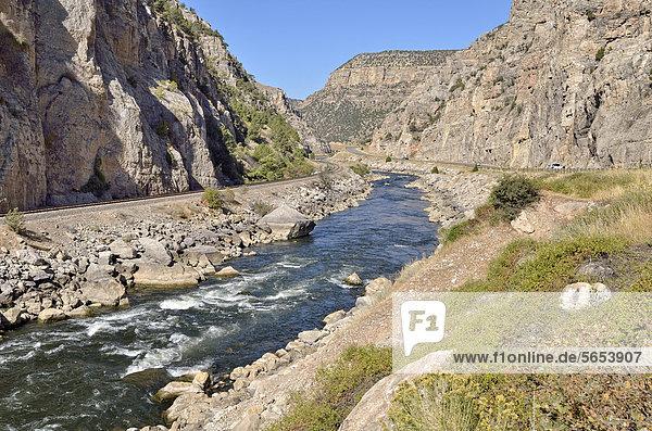 Wind River Canyon  Thermopolis  Wyoming  USA