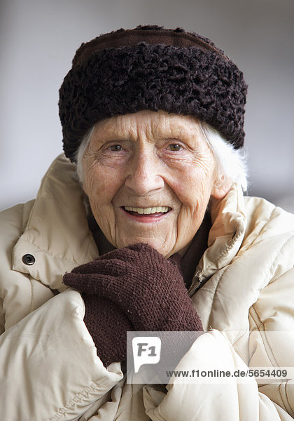 Austria  Senior woman smiling  portrait