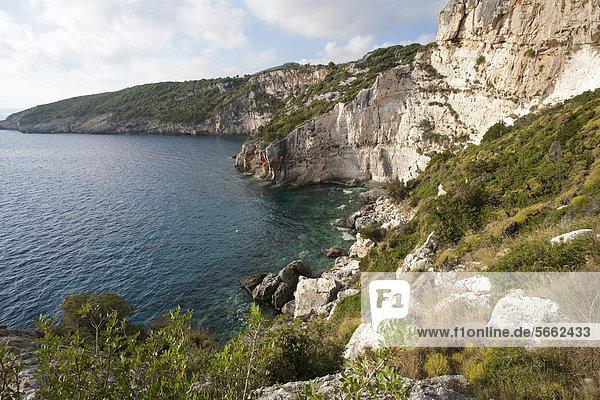 Europa Insel blau Höhle Griechenland Zakynthos