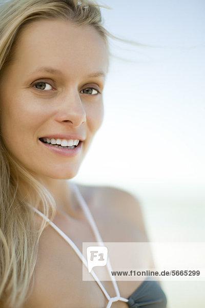 Young woman in bikini  portrait