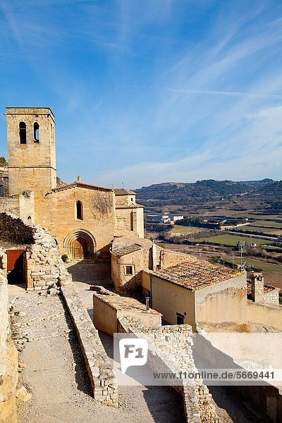 Church of Guimera  Village of Guimera  Lleida  Catalonia  Spain