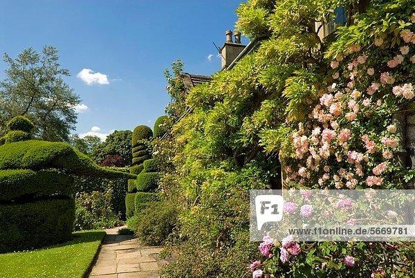 nahe Palast Schloß Schlösser Halle Garten Derbyshire