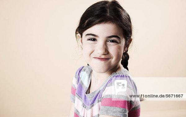 Grinsendes Mädchen  Portrait