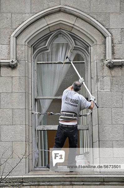 Fensterputzer  Manhattan  New York  USA  ÖffentlicherGrund