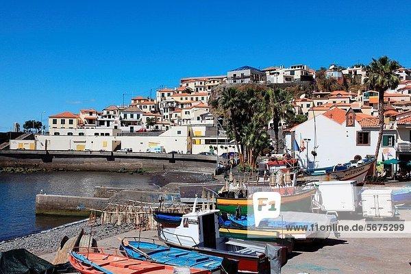 Hafen  Europa  Großstadt  Boot  angeln  Madeira  Portugal