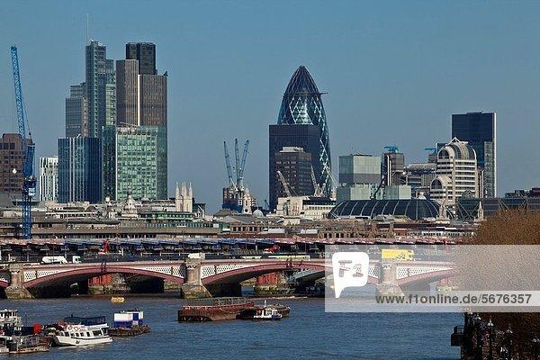 Skyline  Skylines  London  Hauptstadt  Großstadt  Brücke  England